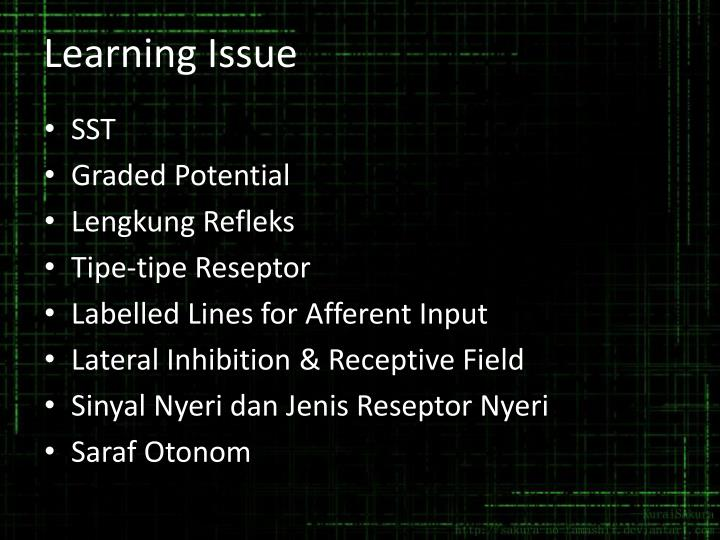 Learning Issue