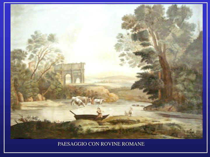 PAESAGGIO CON ROVINE ROMANE