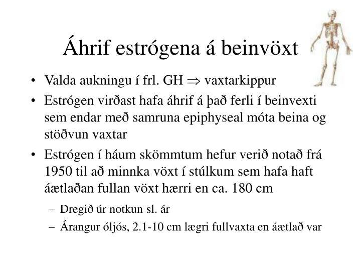 Áhrif estrógena á beinvöxt