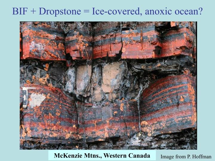 BIF + Dropstone = Ice-covered, anoxic ocean?