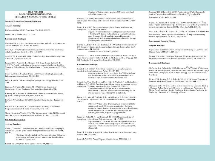 Reading List #2