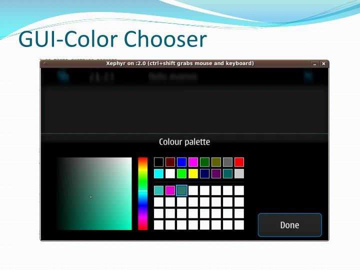 GUI-Color Chooser