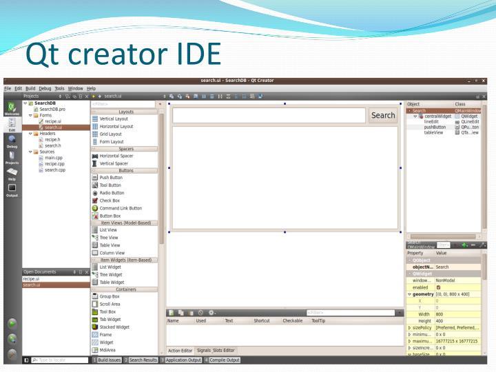 Qt creator IDE