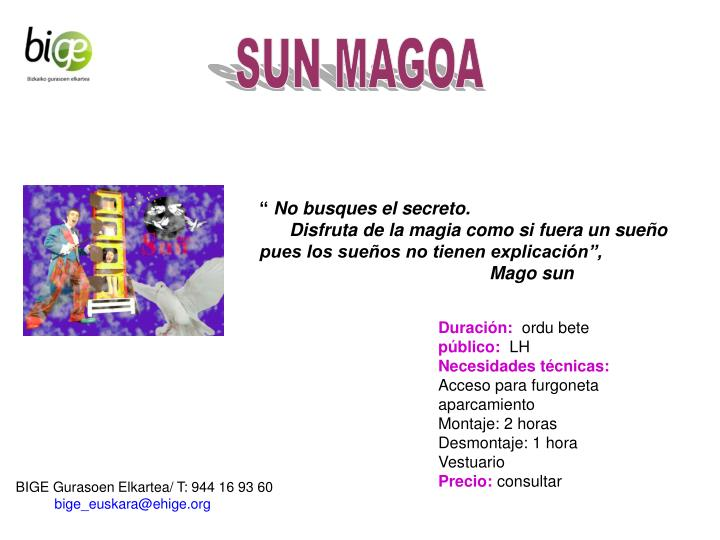 SUN MAGOA