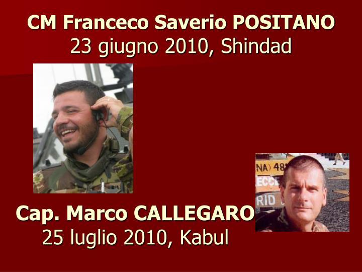 Cap. Marco CALLEGARO
