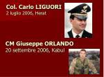 cm giuseppe orlando 20 settembre 2006 kabul