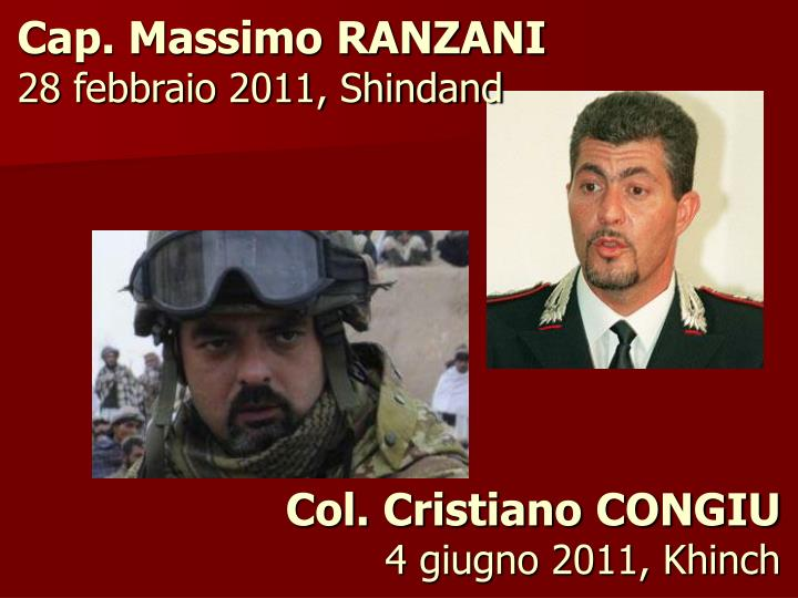 Cap. Massimo RANZANI