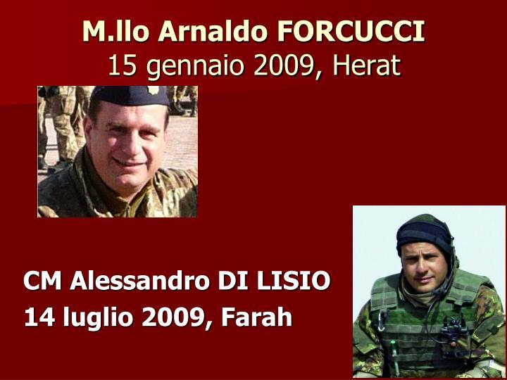 M.llo Arnaldo FORCUCCI