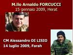 m llo arnaldo forcucci 15 gennaio 2009 herat