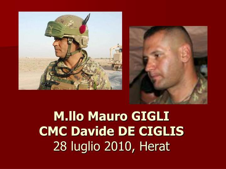 M.llo Mauro GIGLI