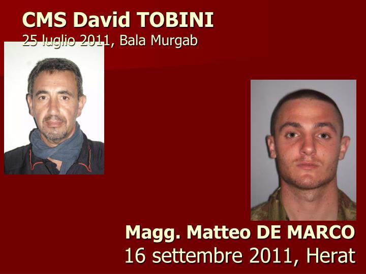 CMS David TOBINI