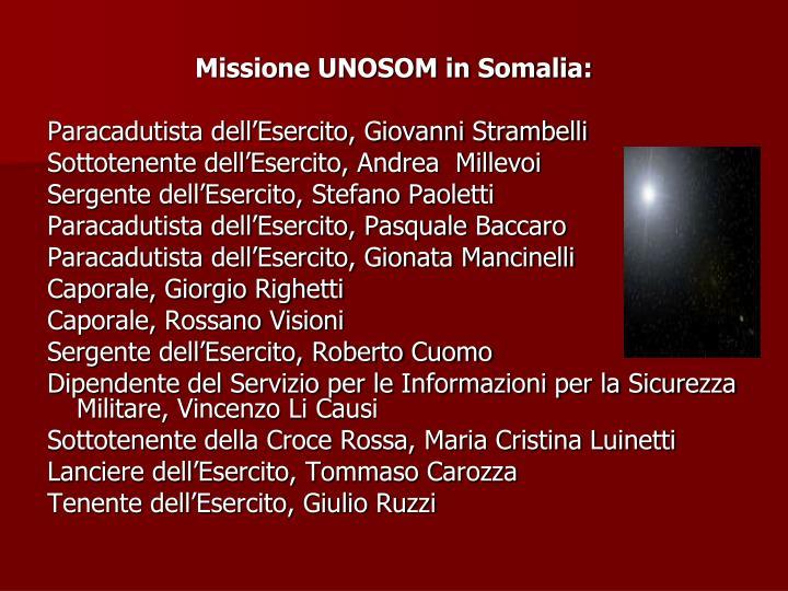 Missione UNOSOM in Somalia:
