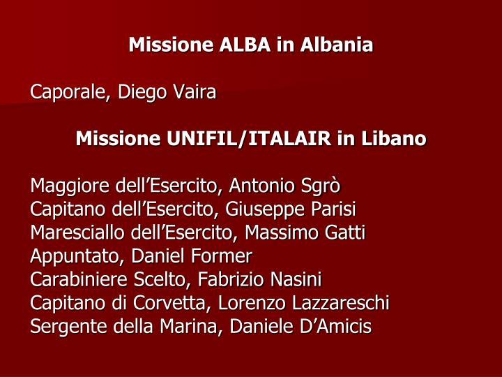 Missione ALBA in Albania