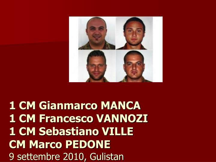 1 CM Gianmarco MANCA