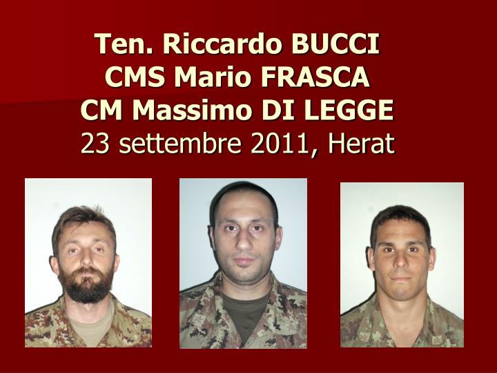 Ten. Riccardo BUCCI