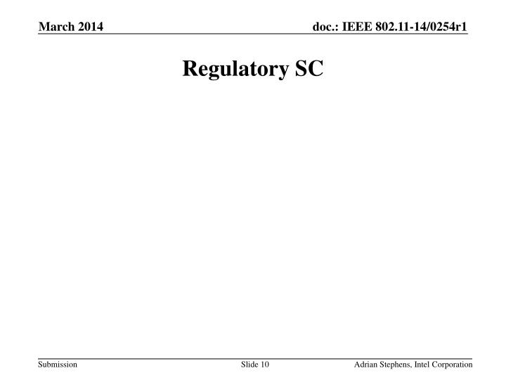 Regulatory SC