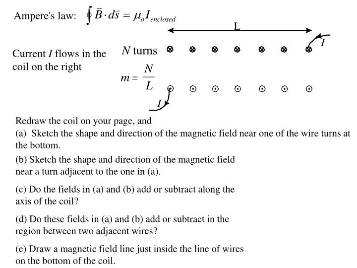 Ampere's law: