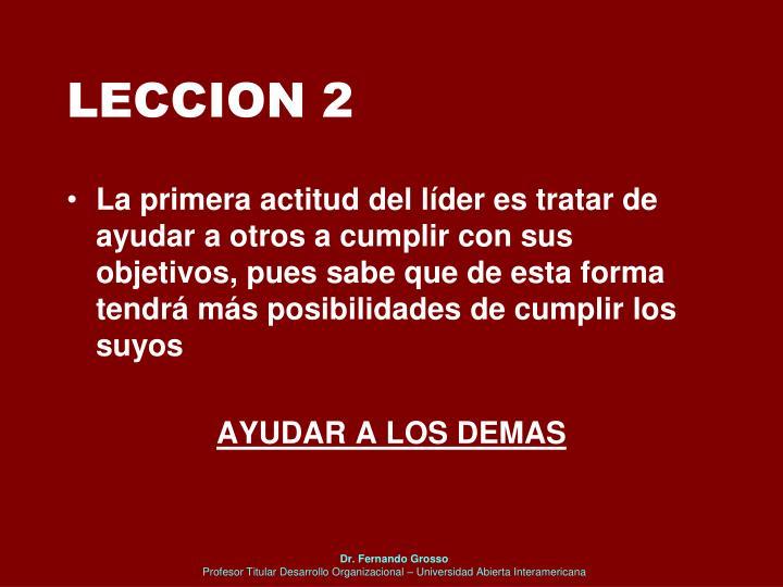 LECCION 2