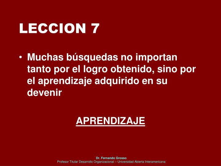 LECCION 7
