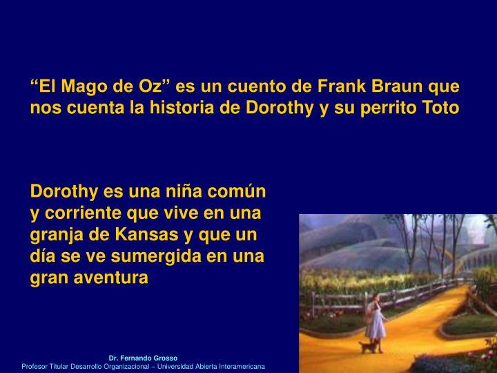 """""""El Mago de Oz"""" es un cuento de Frank Braun que"""