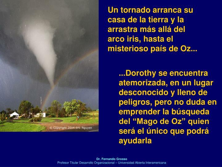 Un tornado arranca su