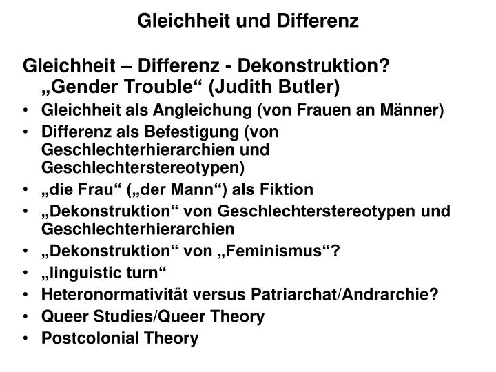 Gleichheit und Differenz