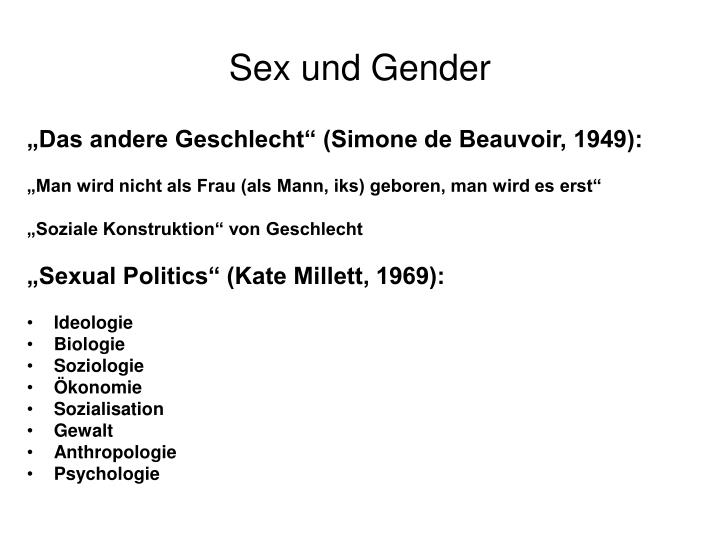 Sex und Gender