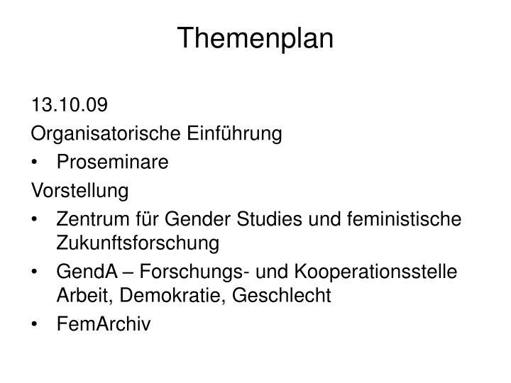 Themenplan