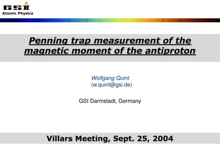 Penning trap measurement of the