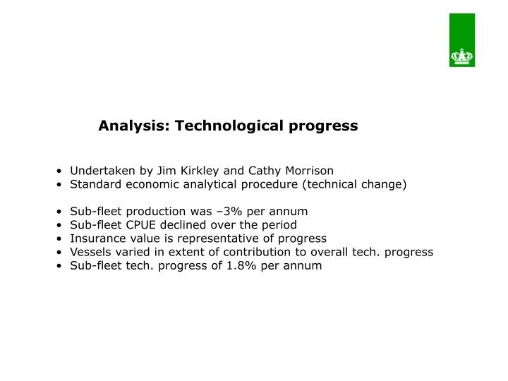 Analysis: Technological progress