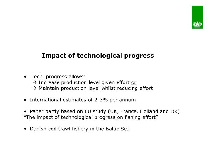 Impact of technological progress