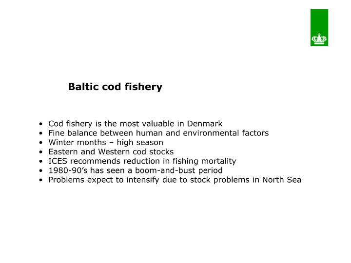 Baltic cod fishery
