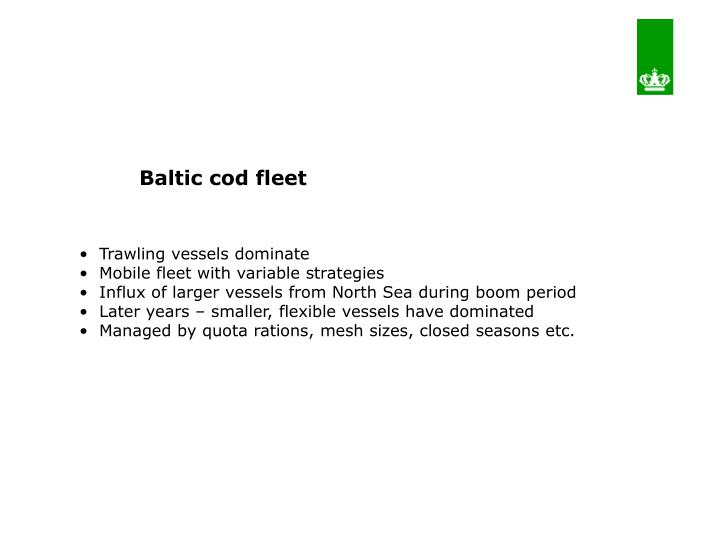 Baltic cod fleet