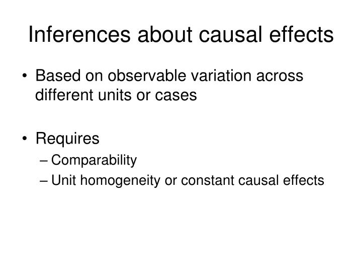 Inferences about causal effects