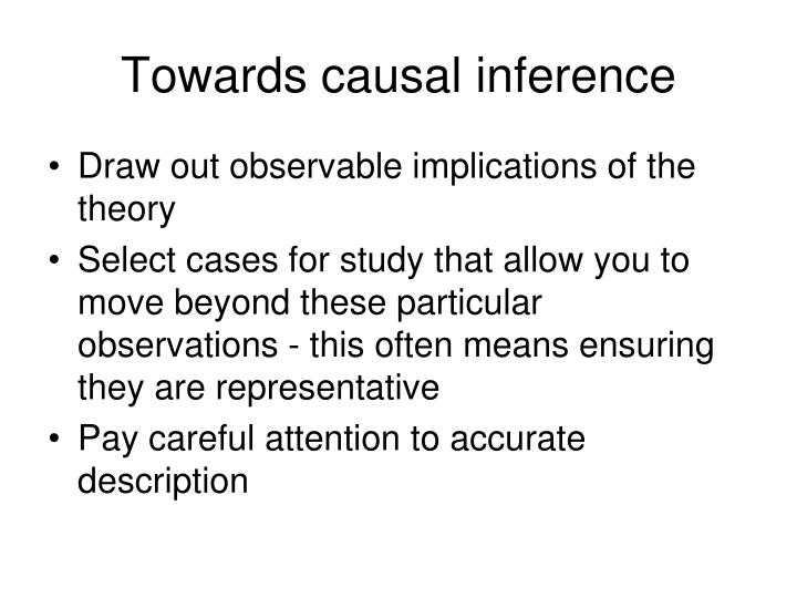 Towards causal inference