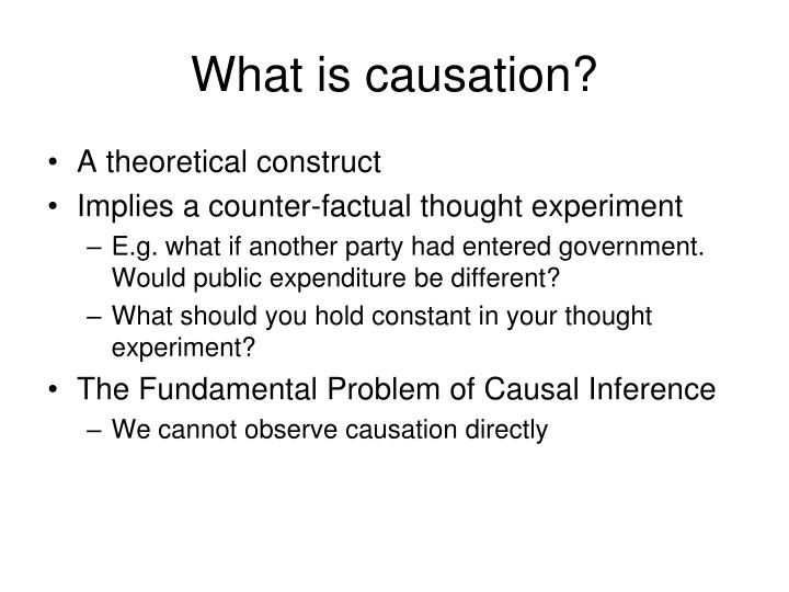 What is causation?