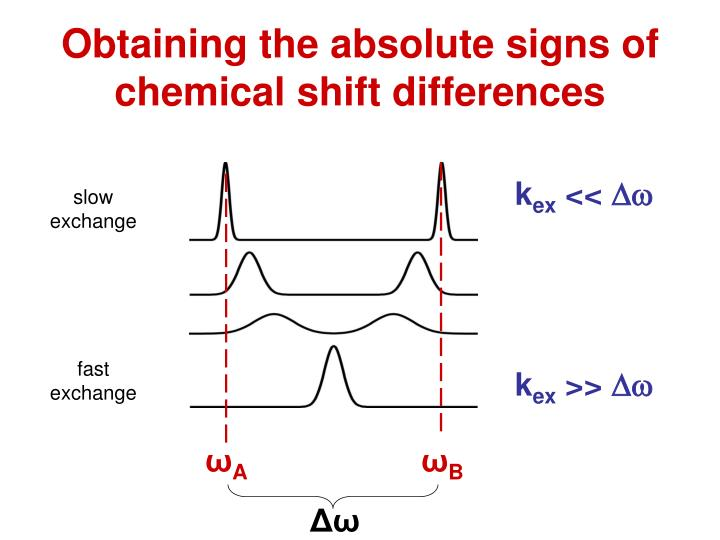 Obtaining the absolute signs of chemical shift differences