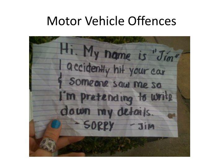 Motor Vehicle Offences