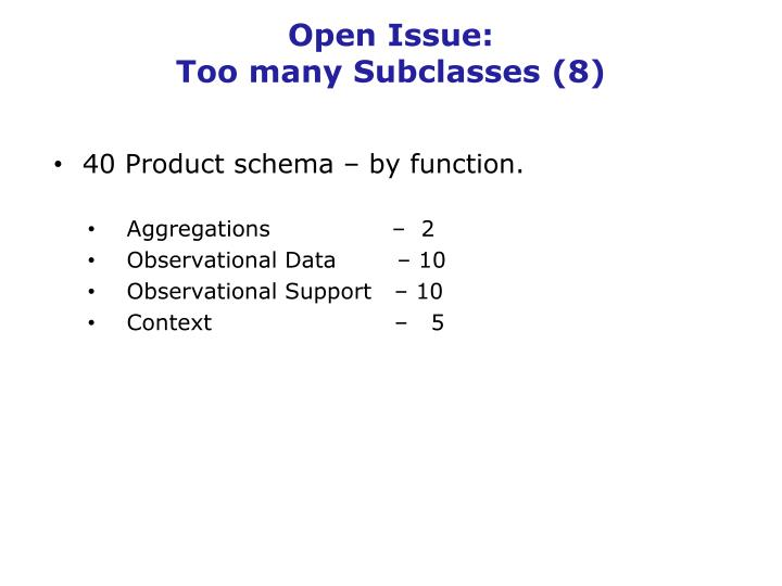 Open Issue: