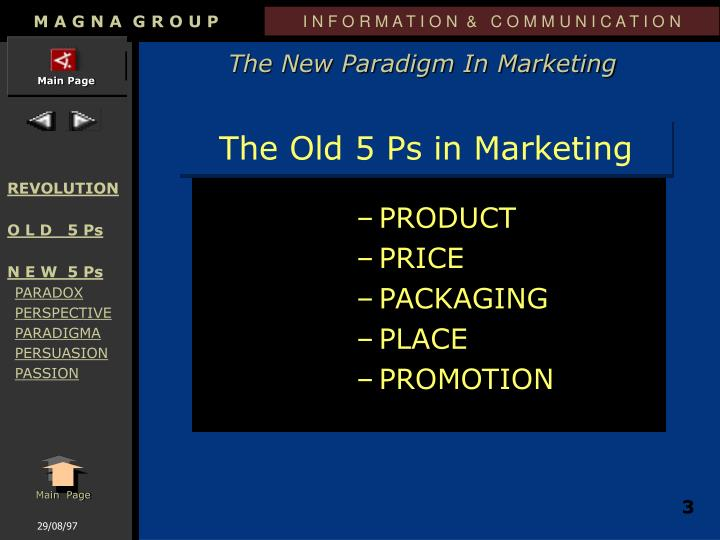 The old 5 ps in marketing