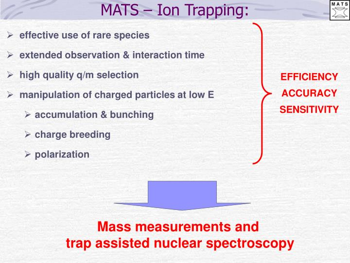 MATS – Ion Trapping: