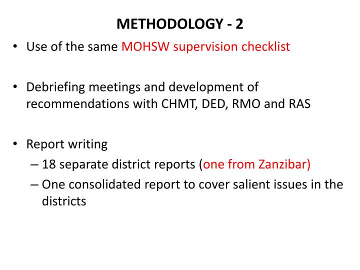 METHODOLOGY - 2