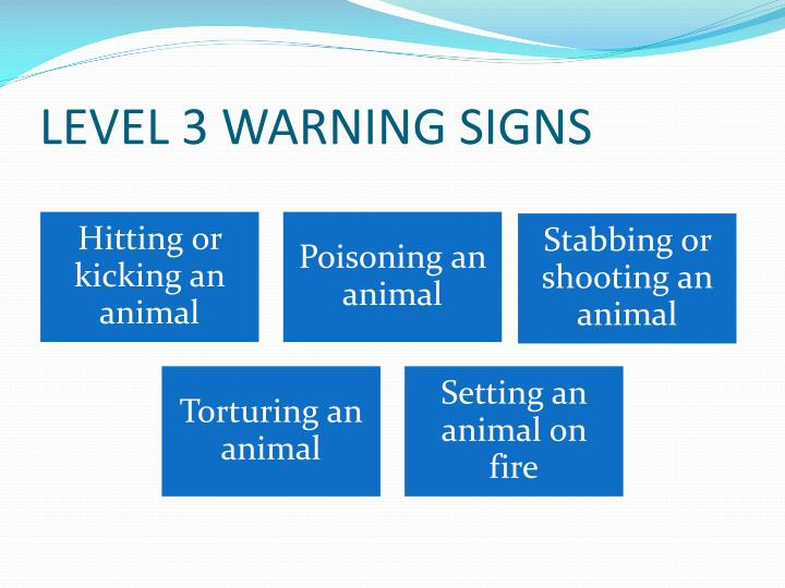 LEVEL 3 WARNING SIGNS