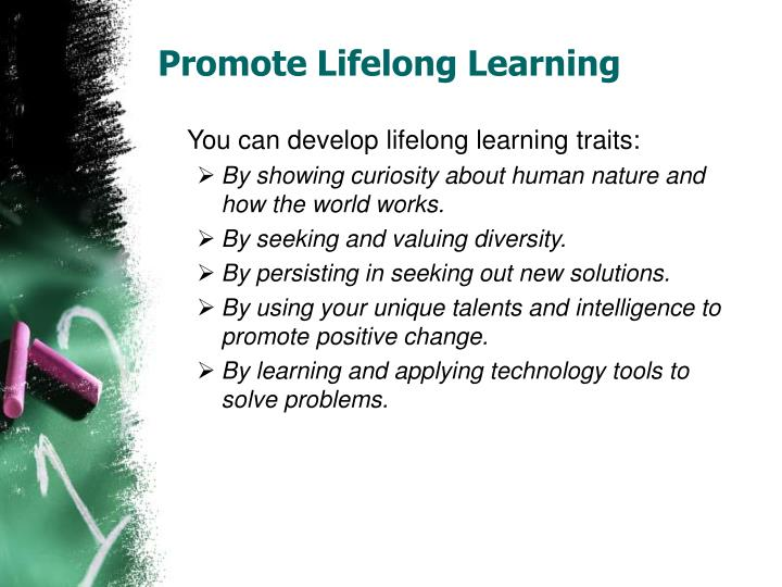 Promote lifelong learning