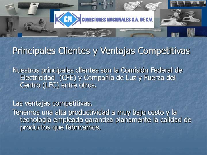 Principales Clientes y Ventajas Competitivas