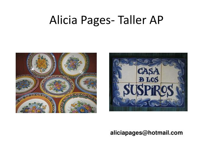 Alicia Pages- Taller AP