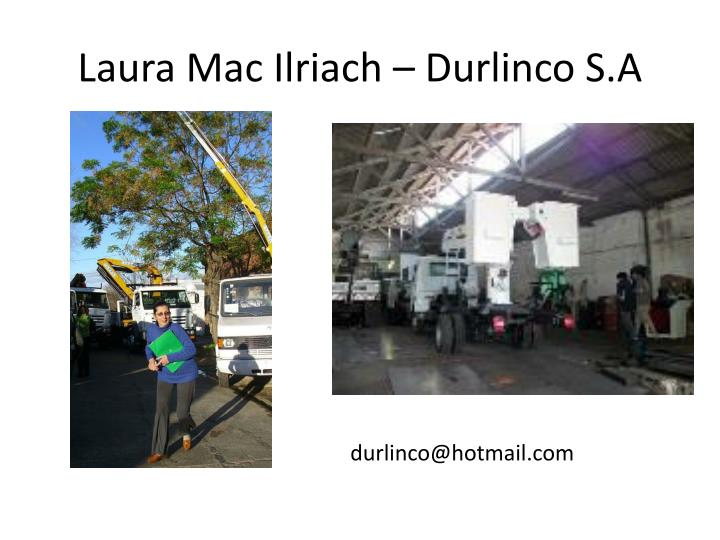 Laura mac ilriach durlinco s a