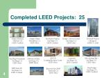 completed leed projects 25