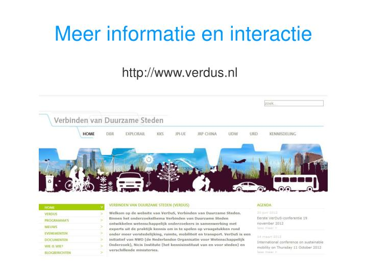 Meer informatie en interactie