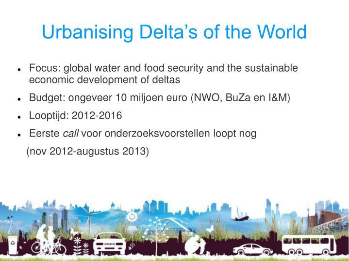 Urbanising Delta's of the World